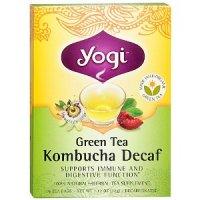Yogi tee Зеленый чай с пряностями, комбуча и бузиной пачка